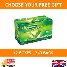 Green Tea 240 Tea Bags (12 boxes x 20 bags) / Dogadan Herbal Tea Sachets
