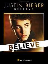 Justin Bieber Believe Piano Vocal Guitar Book NEW!