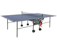 Stiga  Indoor Tischtennisplatte  Basic Roller  Blau mit Netz