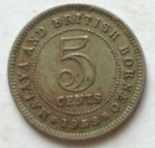 Malaya & British Borneo 5 cents 1953 coin