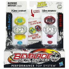 Beyblade metal masterstwin Pack-Burning Mirage-Flame Serpent v Cyber Aquario