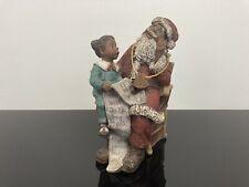 Sarah's Attic Black Heritage Limited Edition Figurine Santa Oh My! 1992 Signed