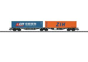 Trix 24802 Doppel-Containertragwagen Bauart Sggrss 80 PKP beladen #NEU in OVP#