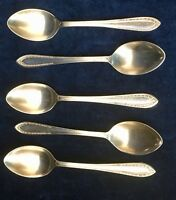 Set of 5 Coffee Spoons, ZENITH SILVER PLATE,Charming Details,Very Good Condition