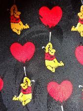 DISNEY ~ WINNIE THE POOH ~ CHRISTMAS XMAS MENS TIE NECKTIE ~ HEART BALLOONS !!!