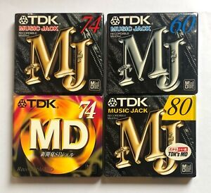 LOT OF TDK MD MUSIC JACK(3) AND SP(1) SINGLE SEALED 4 MINIDISC