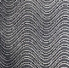 """Gray Velvet Swirl Flocking Upholstery Drapery Fabric - BTY - 58"""" / 60"""""""