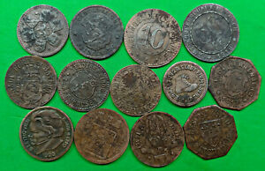 Lot of 13 Different Old German Notgeld Coins 1917-1920 Germany WWI  !!
