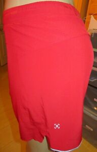 "LULULEMON SURGE SHORT *Updated Full Shorts Liner 6"" Shorts-Bold Red-Size SMALL"