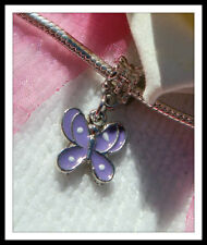 Silver Plated Purple European Jewellery Charms