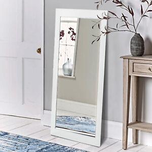White Long Wall Mounted Bathroom Bedroom Hallway Living Room Mirror Full Length