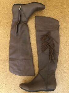 House Of Harlow Ladies Leather Brown Boots Size 37.5