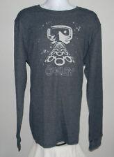 Mens Oakley Grip long sleeve thermal shirt XXL gray white ski mask logo