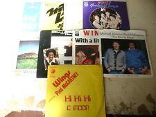 "PAUL McCARTNEY(THE BEATLES)""LOTTO NR 9 DISCHI 45 GIRI APPLE Italy anni 70"