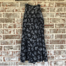 Used  Black Sleeveless Floral Dress