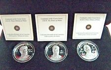 "2011 Canada $15 Silver 3 Coin ""Princes"" Crown Set Proofs** Free U.S. Shipping **"