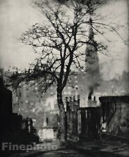 1905/66 ALVIN LANGDON COBURN Vintage Edinburgh Church Scotland Photo Art 11x14