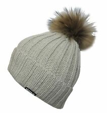 Women's Fashionable Wool Winter YUTRO Hat with Trendy Fox Pom BROWN CIT102A