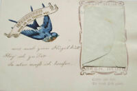 """""""Geburtstag, Schwalbe, Lied, Brief, Glückwunsch"""" 1900  ♥"""