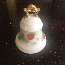 Vintage Bernadaud Limoges Porcelain Bell Strawberry Motif
