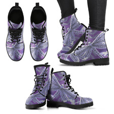 Purple Dragonfly Handcrafted Women's Vegan-Friendly Leather Boots