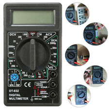 DT832 Digital LCD Multimeter Ohm Voltage Ampere Meter Buzzer Function with Test