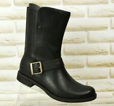 Timberland Damen Savin Cuero Negro Botas para mujer con cremallera mitad de la pantorrilla 4.5 UK 37.5 EU