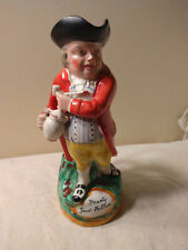 """Antique 11"""" Staffordshire Porcelain Pottery Toby Mug 1885 'Hearty Good Fellow'"""