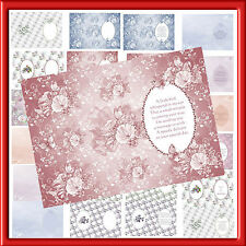 FEMALE INSERTS  FOR YOUR CARDS  X PACK OF 24 X A5 SHEETS(12 VERSES 12 BLANK)