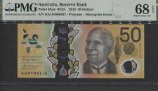 TT PK 65ax 2018 AUSTRALIA RESERVE BANK 50 DOLLARS PMG 68 EPQ SUPERB GEM UNC.