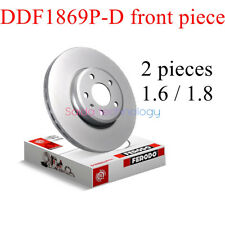 Ferro brake disc 2 piece front piece DDF1869P-D front 2 brake disc  1.8/1.6