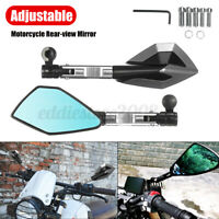 8mm 10mm Silver CNC Motorcycle Rearview Mirror Short Rod Accessories Replacement