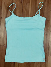 Abercrombie Fitch~XS Extra Small~Cami Tank Top~Spaghetti Straps~Baby Blue~Cotton