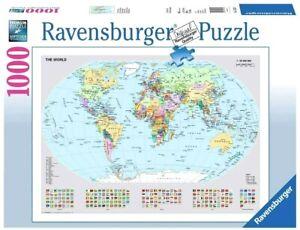 RAVENSBURGER. 1000 PCS. World Map. ITEM NR.15652. NEW
