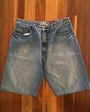 QUIKSILVER Men's Retro Relaxed-Fit QuikJean Shorts Denim Blue W34