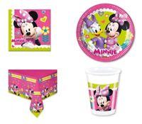 Coordinato Piatti Bicchieri Tovaglioli Tovaglia Candelina Minnie Rosa Disney