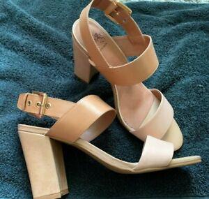 Otto Kern Leder Damen Schuhe Sandaletten beige Pumps HighHeels Peeptoes Gr41*NEU