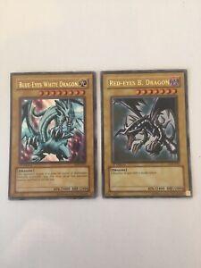 Yu-GI-Oh - LOB 1st Edition Blue Eyes White Dragon & LOB Red Eyes - Ultra Rare