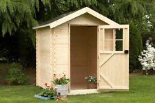 Gartenhaus Tienen 19 Holz Satteldach 180x165 cm Gerätehaus Geräteschuppen Laube