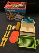 Fisher Price 918 Kitchen Sink Set Boxed Vintage Rare Complete 1982