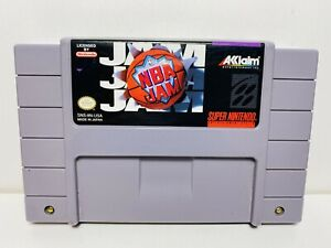 NBA JAM -- SNES Super Nintendo Authentic Original Basketball Game TESTED