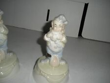 "6"" Porcelain Clown Holding Mask Made In Taiwan"