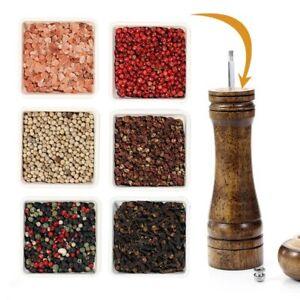 Seasoning Grinding Bottle 1Pc Salz Pfeffer Schleifmittel Oak Aromatisiert Mühle