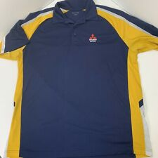 Mitsubishi Motors Renn Kirby Polo Shirt Golf Shirt Sport Tek Size XL Blue Yellow
