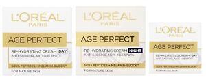 L'Oreal AGE PERFECT Re-Hydrating Cream DAY 50ml NIGHT 50ml or EYE 15ml