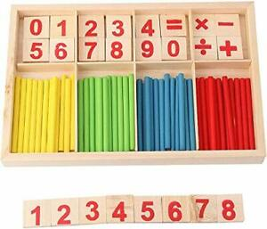 ZKMESI Montessori Counting Tool Toy Educational Mathematical Counting Sticks ...