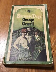 George Orwell ~ Burmese Days ~ vintage Signet Classics PB paperback 1963