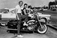 OEM Struts & Shocks w/ Covers Panhead Shovelhead Original Harley FLH 1958-1972