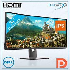 "DELL UltraSharp U3417W 34"" UltraWide Quad HD IPS Black Curved Computer Monitor"