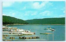 East Branch Clarion Dam Glen Hazel Pennsylvania Water Skiing Boats Postcard B29